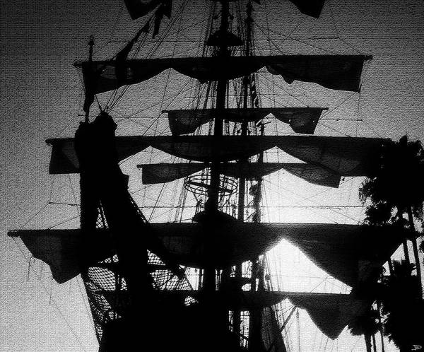 Sailing Ship Art Print featuring the painting Rigging And Sail by David Lee Thompson