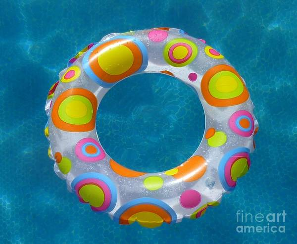 Art Print featuring the photograph Ring In Pool by Jane Stanley