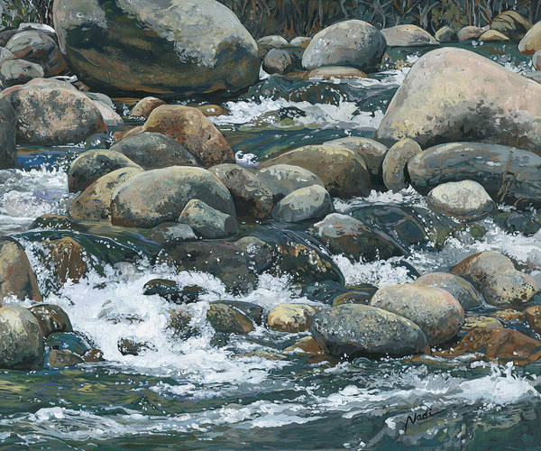 River Art Print featuring the painting River At Sierra Subs by Nadi Spencer