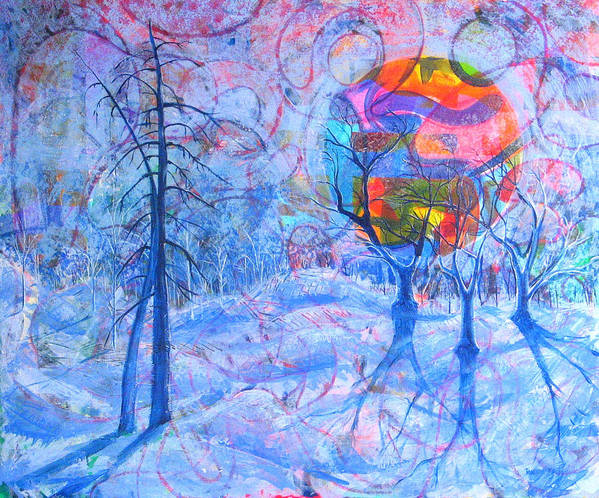 Winter Art Print featuring the painting Solstice by Rollin Kocsis