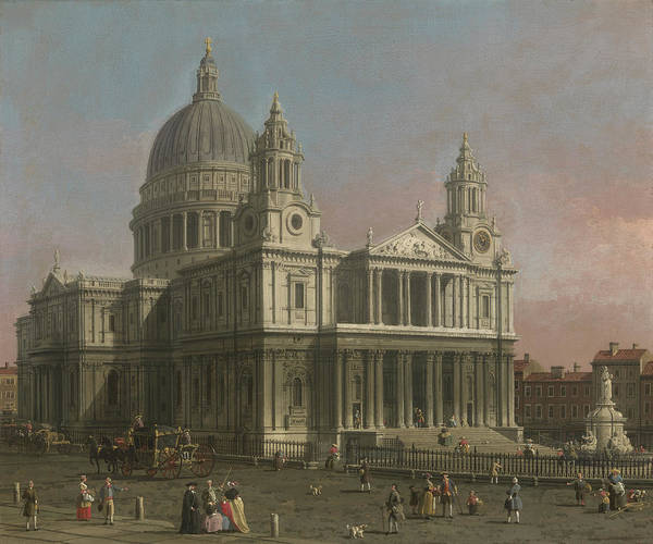 Paul Print featuring the painting St. Paul's Cathedral by Giovanni Antonio Canaletto