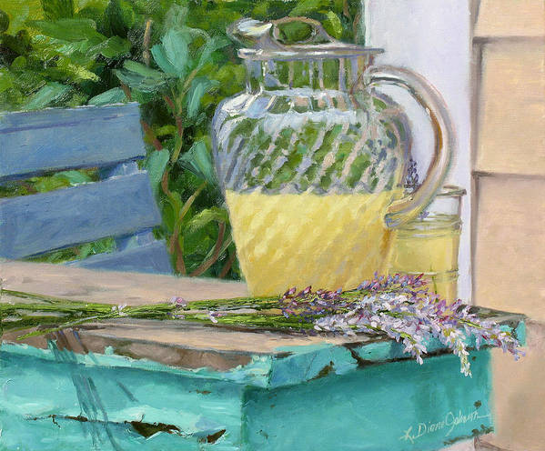 Lemonade Art Print featuring the painting Summer's Harvest by L Diane Johnson