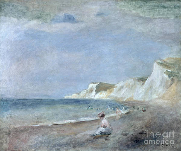 The Art Print featuring the painting The Beach At Varangeville by Renoir