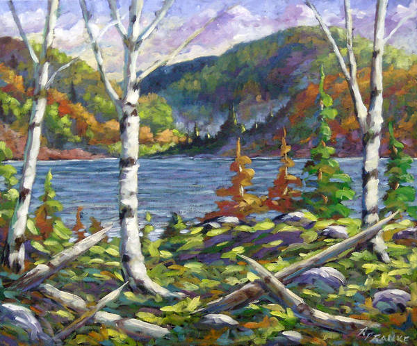 Art Art Print featuring the painting The Birches by Richard T Pranke