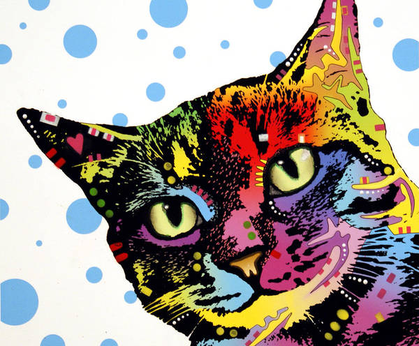 Dog Art Print featuring the painting The Pop Cat by Dean Russo