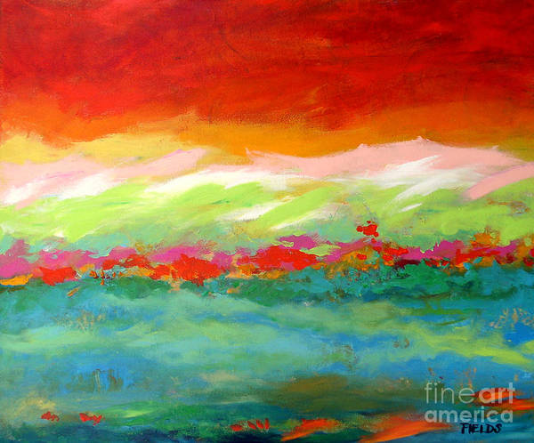 Abstract Art Print featuring the painting The Tide by Karen Fields