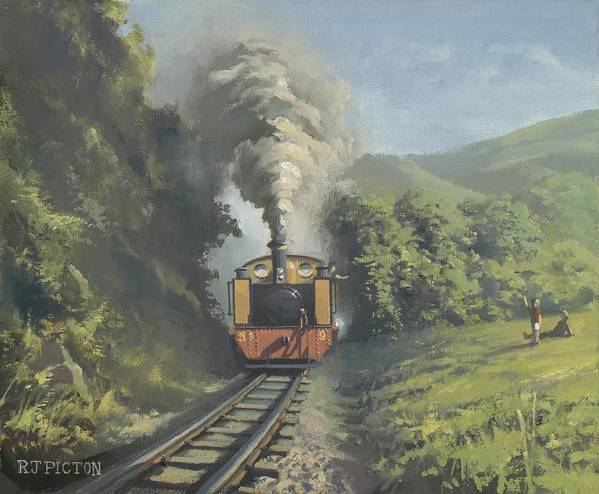 Steam Art Print featuring the painting The Vale Of Rheidol Railway by Richard Picton