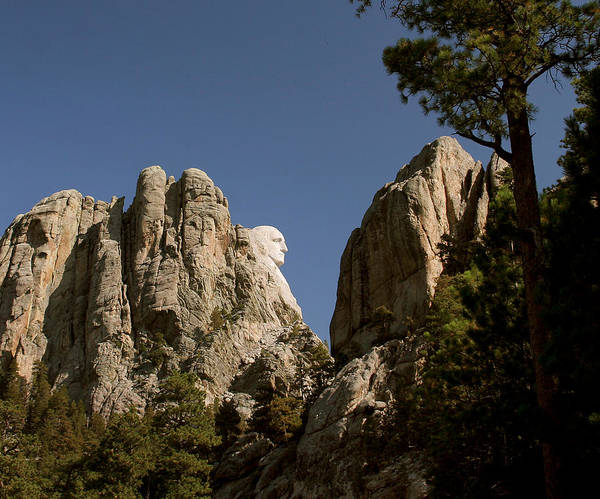 Mount Rushmore Art Print featuring the photograph Washingtons Profile II by Mike Oistad