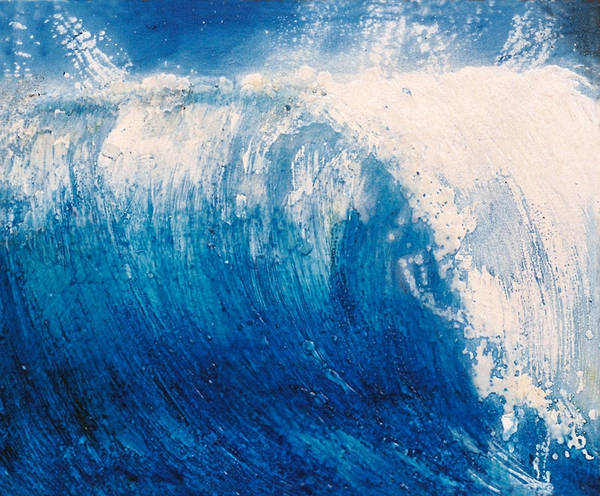 Oil Painting Art Print featuring the painting wave VI by Martine Letoile