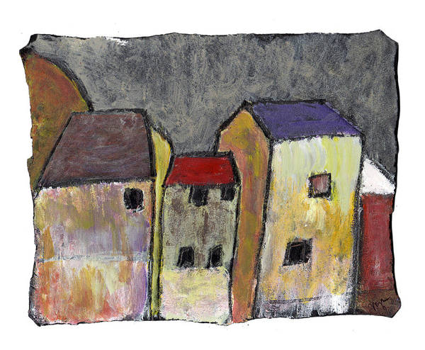 Buildings Art Print featuring the painting Where Once There Was by Wayne Potrafka