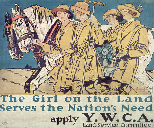 Vintage Poster Art Print featuring the painting World War I Ywca Poster by Edward Penfield