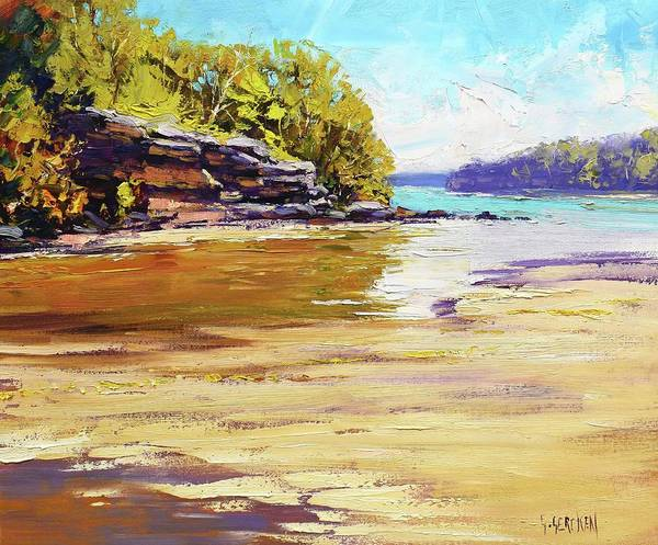 Beach Paintings Art Print featuring the painting Collins Beach Sydney by Graham Gercken