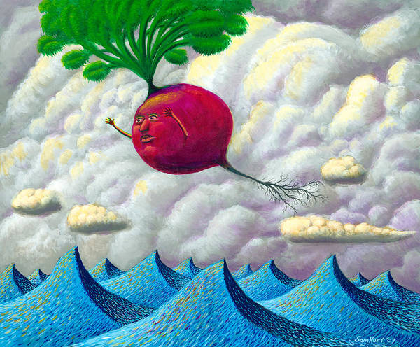 Seascape Art Print featuring the painting Fruit Of The Earth by Sam Hurt