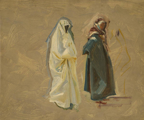 19th Century Art Art Print featuring the painting Study Of Two Bedouins by John Singer Sargent