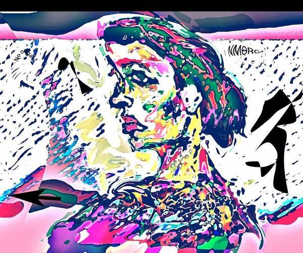 Portrait Art Print featuring the mixed media Badrya by Noredin Morgan