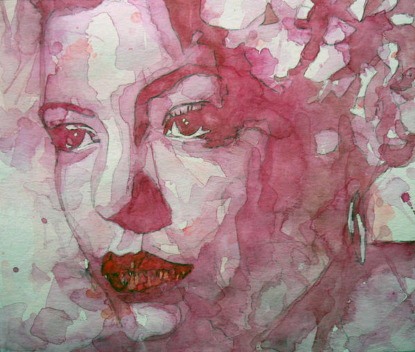 Billie Holiday Art Print featuring the painting All Of Me by Paul Lovering
