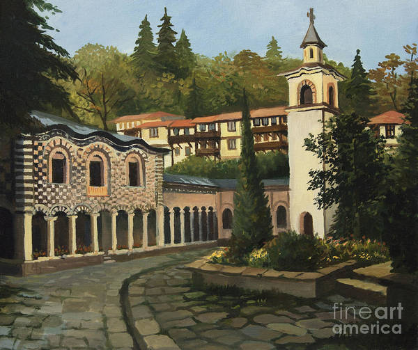 Arch Art Print featuring the painting Church In Blagoevgrad by Kiril Stanchev