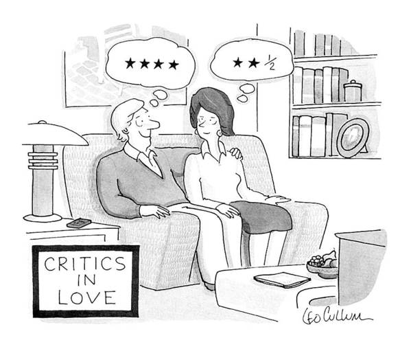 Vanity Art Print featuring the drawing Critics In Love by Leo Cullum