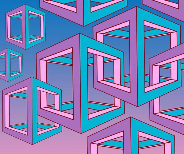 Geometric Art Print featuring the digital art Geometric by Mark Ashkenazi