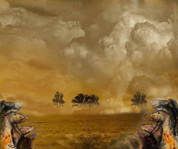 Horses Art Print featuring the photograph Horses And Clouds by Dede Shamel Davalos