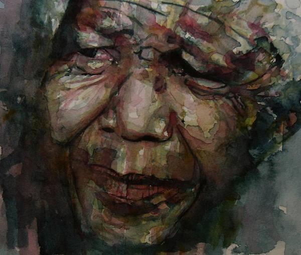 Mandela Art Print featuring the painting Mandela  by Paul Lovering