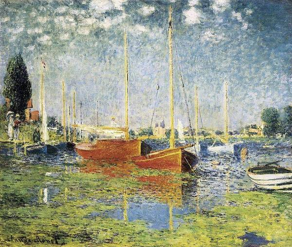 Horizontal Art Print featuring the photograph Monet, Claude 1840-1926. Argenteuil by Everett