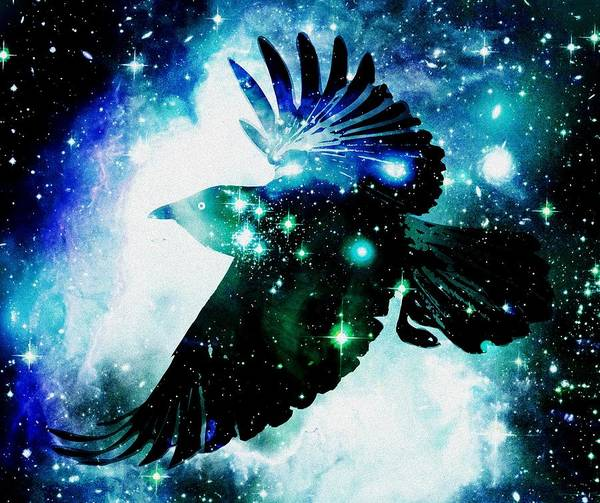 Malakhova Print featuring the digital art Raven by Anastasiya Malakhova
