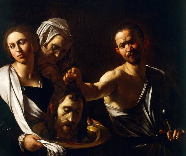 Painting Art Print featuring the painting Salome Receives Head Of John The Baptist by Michelangelo Merisi da Caravaggio