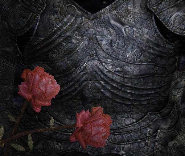 Digital Art Print featuring the painting Strength Of A Rose by Jack Zulli