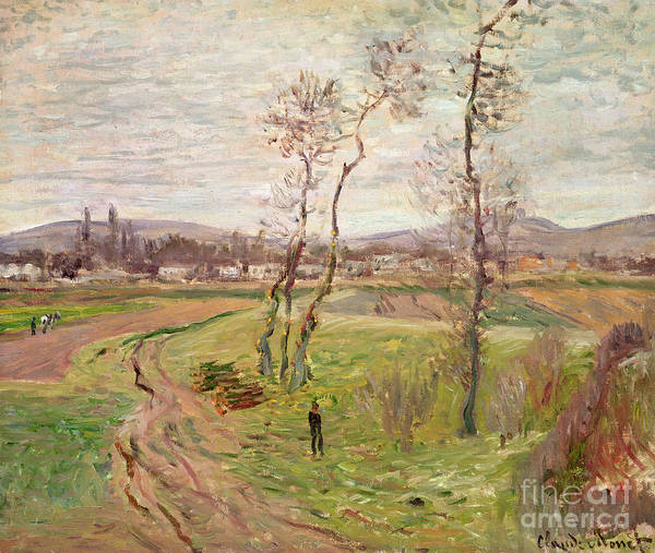 The Plain At Gennevilliers Print featuring the painting The Plain At Gennevilliers by Claude Monet