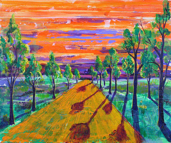 Rolln Art Print featuring the painting The Wide Open by Rollin Kocsis
