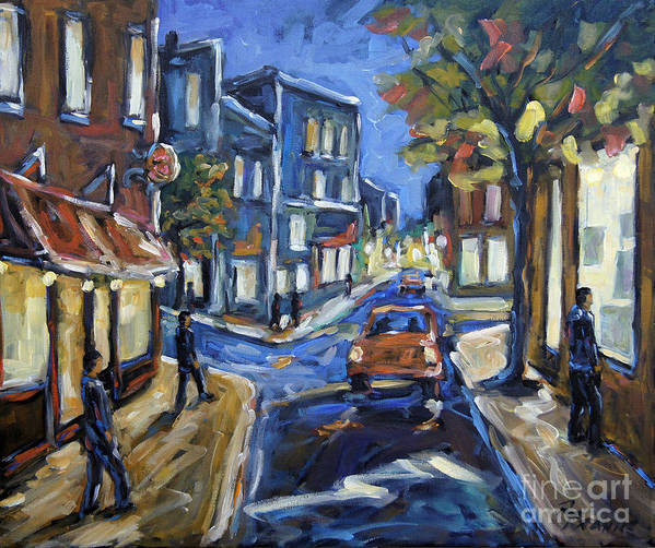 Canadian Rural Scene Created By Richard T Pranke Art Print featuring the painting Urban Avenue By Prankearts by Richard T Pranke