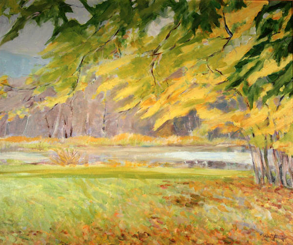 Williamstown Ma Art Print featuring the painting Williamstown Autumn by Pat White