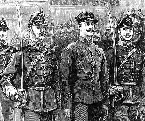 1894 Art Print featuring the photograph Alfred Dreyfus (1859-1935) by Granger