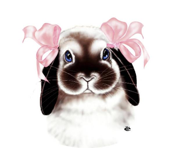 Bunny Art Print featuring the digital art Bunny by Elaine VanWinkle