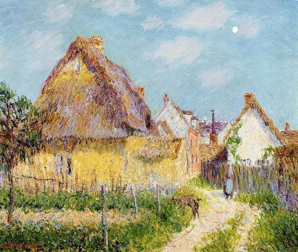 Cottage At Le Vaudreuil Art Print featuring the painting Cottage At Le Vaudreuil by Gustave Loiseau