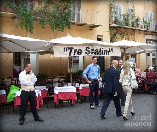 Italy Art Print featuring the photograph Lunch Time In Rome by Tanya Searcy