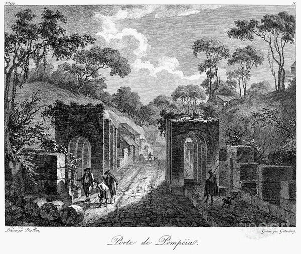 18th Century Art Print featuring the photograph Pompeii: Herculaneum Gate by Granger