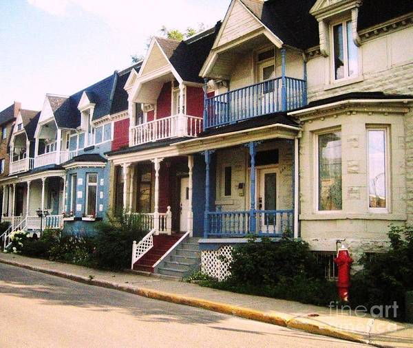 Houses Art Print featuring the photograph Streets Of Montreal by Reb Frost