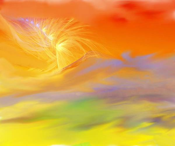 Fine Art Art Print featuring the digital art A Band Of Angels Coming After Me by David Lane