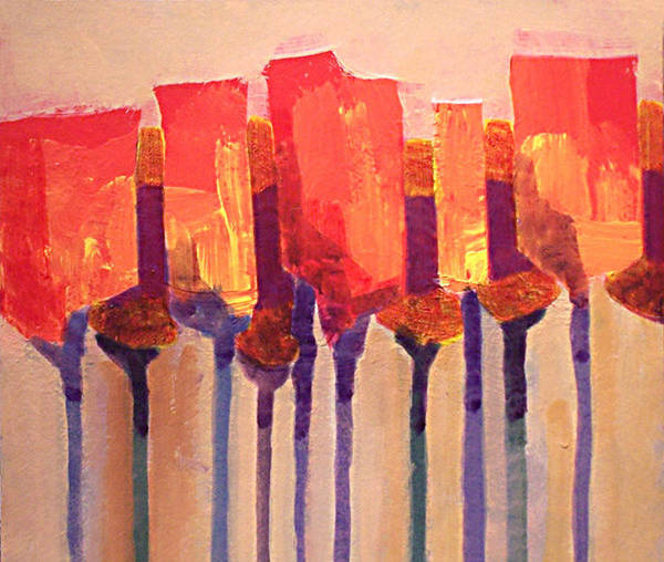 Impressionist Art Print featuring the painting Afternoon Tulips by Dalas Klein