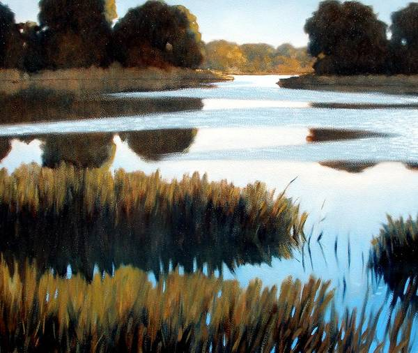 Water Art Print featuring the painting Black Bayou by Kevin Lawrence Leveque