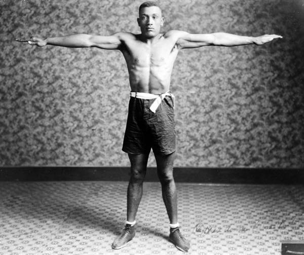 1920s Print featuring the photograph Boxing. Boxer Tut Jackson, Ca. 1922 by Everett