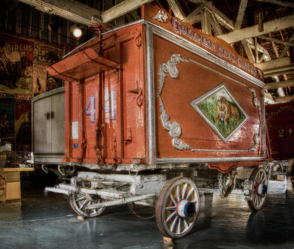 Dusk Art Print featuring the photograph Circus Wagon by Jim Bembinster