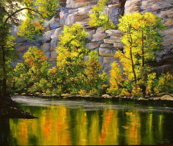 Connie Tom Art Print featuring the painting Cold Water Creek by Connie Tom