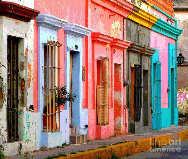 Darian Day Art Print featuring the photograph Colored Casas By Darian Day by Mexicolors Art Photography