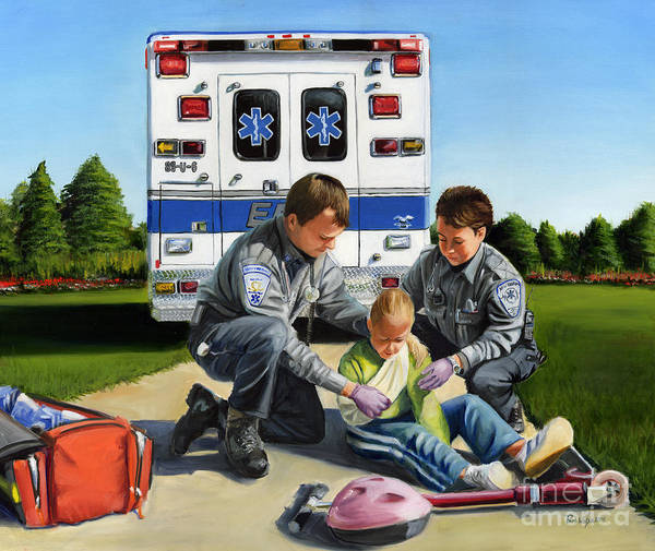 Ems Art Print featuring the painting Compassion by Paul Walsh