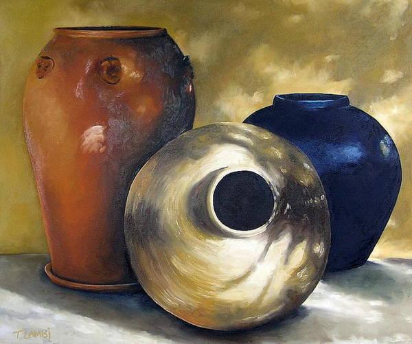 Painting Art Print featuring the painting Dappled Light by Trisha Lambi