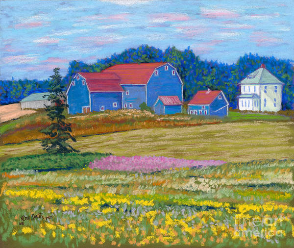 Farm Art Print featuring the pastel Farm On Prince Edward Island by Rae Smith