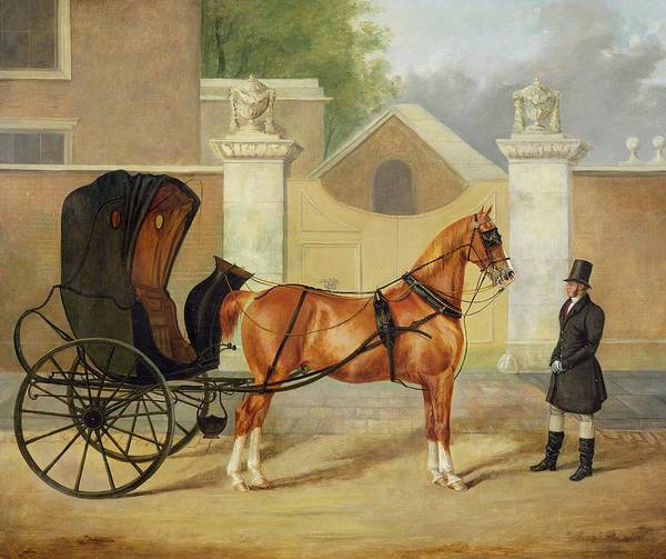 Gentlemen Art Print featuring the painting Gentlemen's Carriages - A Cabriolet by Charles Hancock